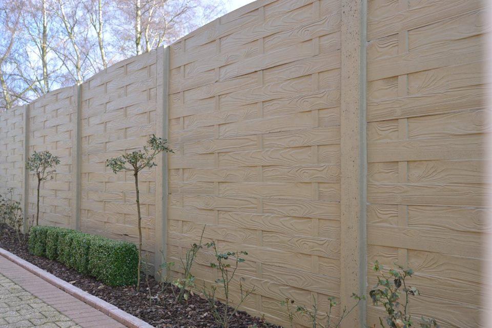 Betonschutting weavestone enkelzijdig 200x193cm