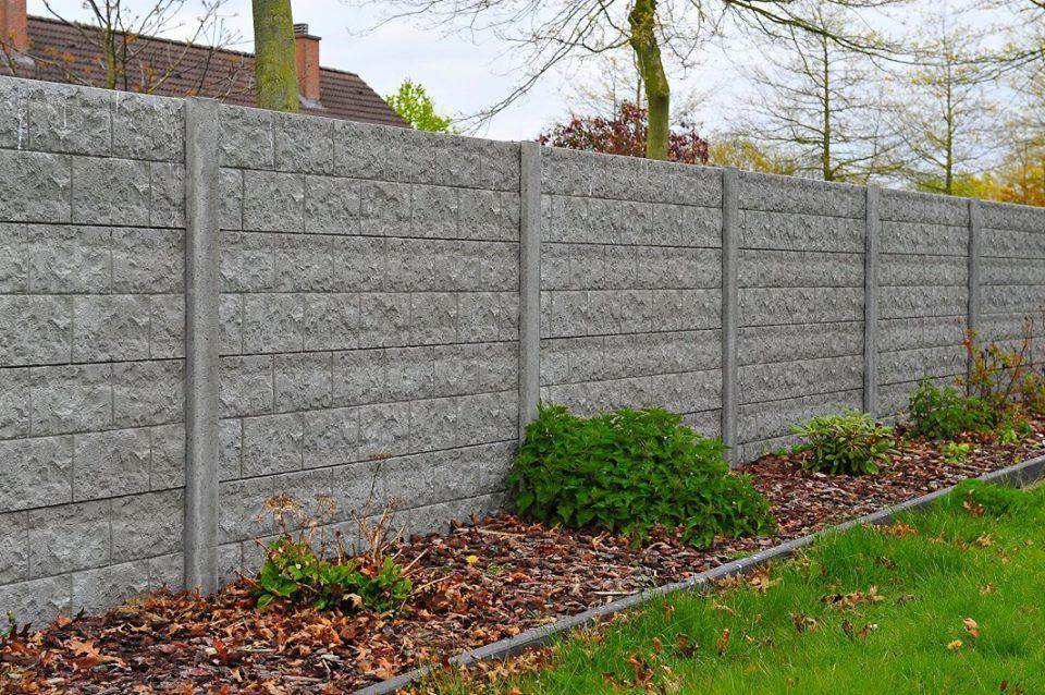 Betonschutting rockstone enkelzijdig 200x193cm