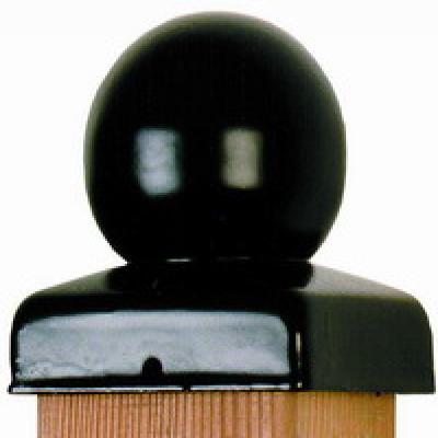 pfostenkappe-pfostenabdeckung-kugel-schwarz-91mm