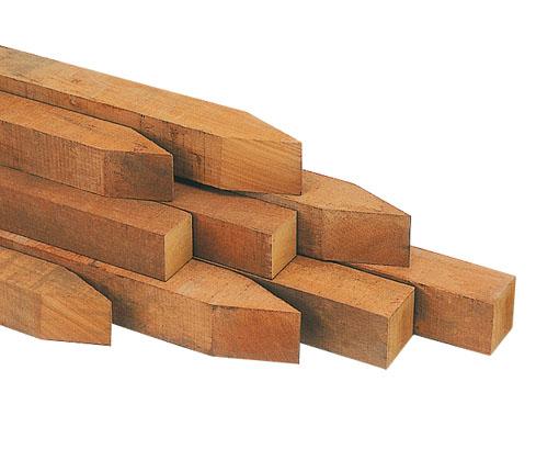 Hartholz Pfosten 7x7x250cm
