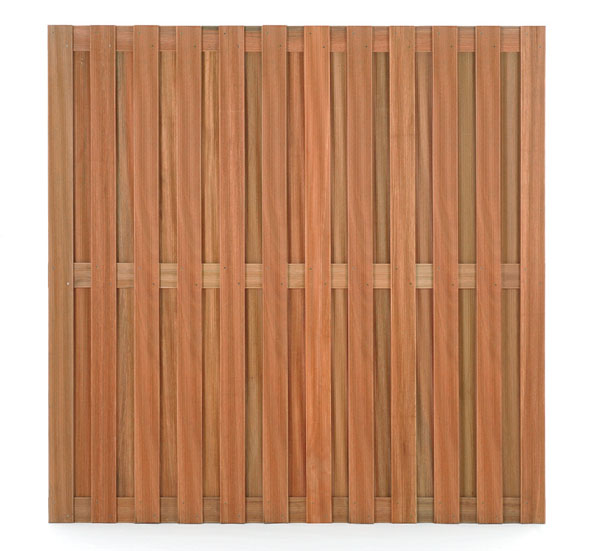 Schutting tuinscherm hardhout recht 180x180cm
