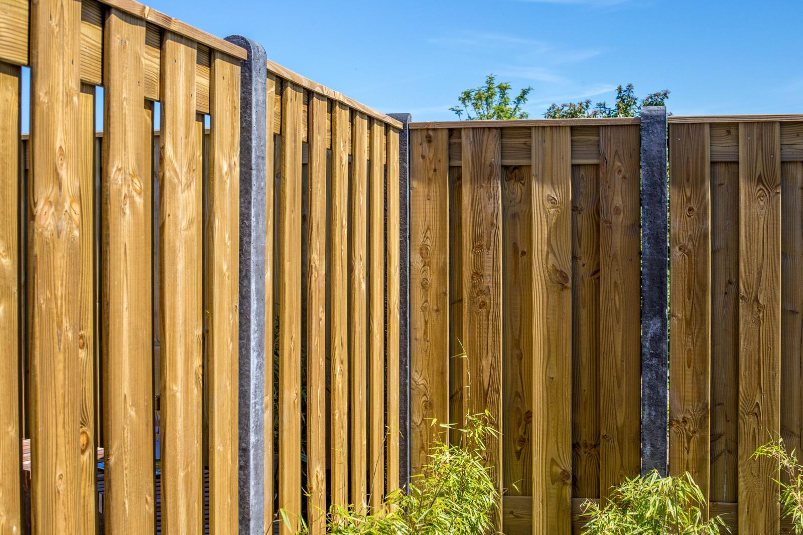 Hout beton schuttingen antraciet 200x190cm 21 planks per set