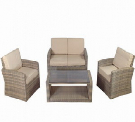 Gartenmöbel loungeset polyrattan