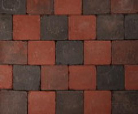 Pflastersteine Koppelstones rot/schwarz