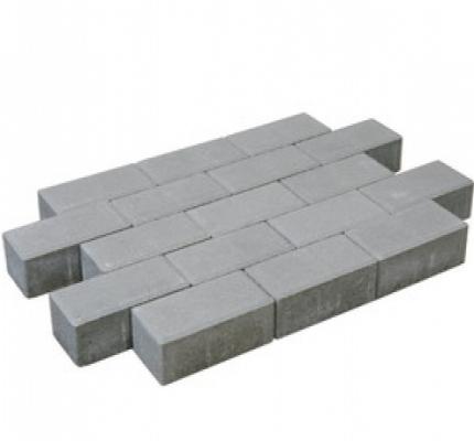 Pflastersteine beton grau.