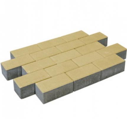 Pflastersteine beton gelb.