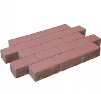 Pflastersteine beton rot.