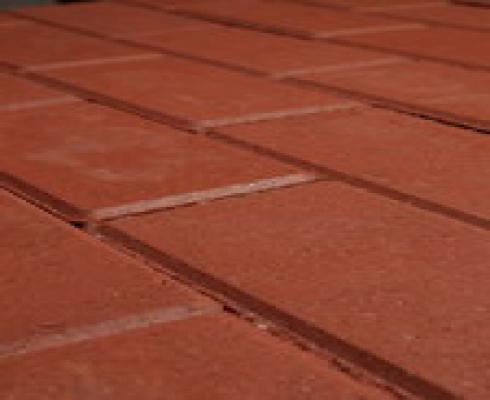 Halve betonklinkers rood 11x11cm sierbestrating
