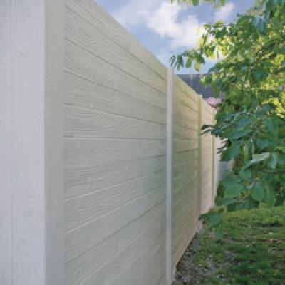 Betonzaun holzmotiv grau 200x193cm doppel jetztbilligerkaufen