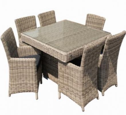 Gartenmöbel Sets - Gartenmöbel polyrattan dining set Tirano  - Onlineshop Intergard
