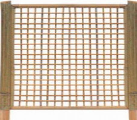 Tuinscherm bamboescherm trellis 180x180cm