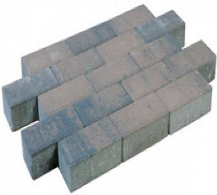 Betonklinkers dikformaat sierbestrating brons strak, 21x7x7cm, per m2