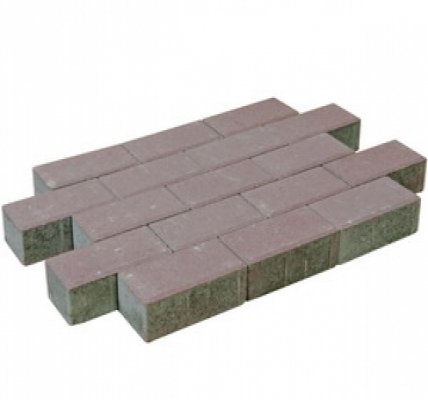 Pflastersteine beton heideviollet.
