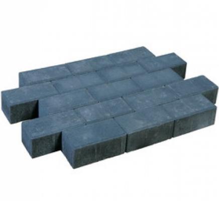 Betonklinkers dikformaat sierbestrating antraciet strak, 21x7x7cm, per m2