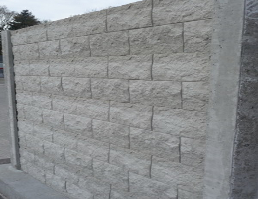Betonzaun Rockmotiv grau 200x193cm doppel jetztbilligerkaufen