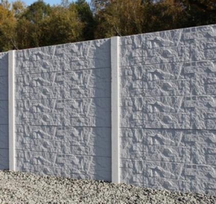 Betonzaun stepstone grau 200x193cm einseitig jetztbilligerkaufen
