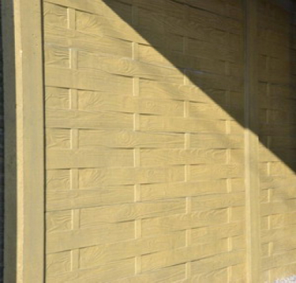 Betonzaun lamellenmotiv grau 200x193cm doppel jetztbilligerkaufen