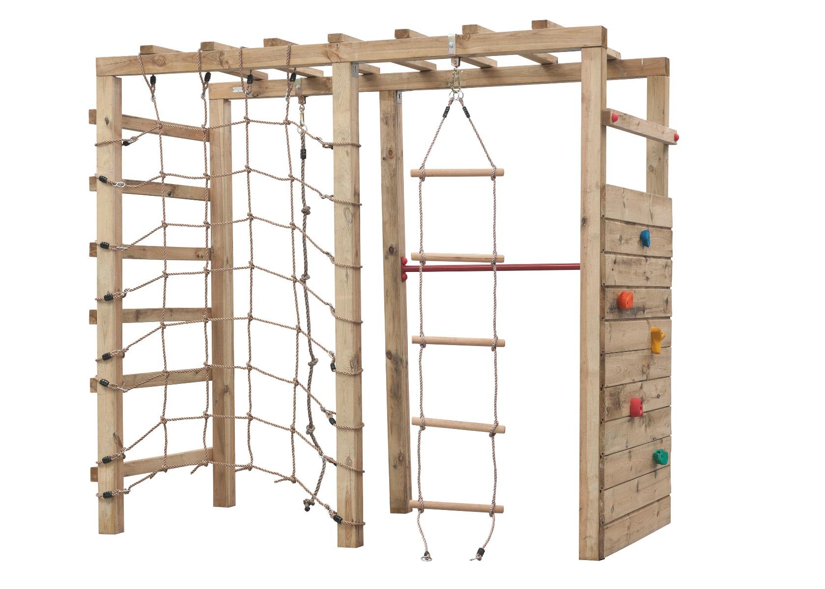 Houten speeltoestel klimtoren King Kong 240x120x220cm