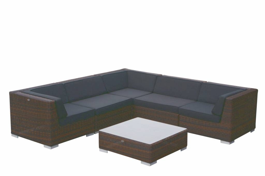 Loungemöbel - Loungemöbel London 3201 braun polyrattan rundes Geflecht  - Onlineshop Intergard