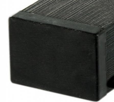 Tuinpaal houtcomposiet antraciet 7x7x185cm