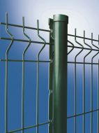 Paal 200cm voor hekwerk 153cm groen