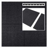Rubberen tegels zwart 1000x1000x25mm prijs per m2