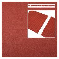 Rubberen tegels rood 500x500x45mm prijs per m2