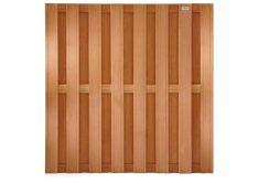 Tuinscherm hardhout recht 180x180cm