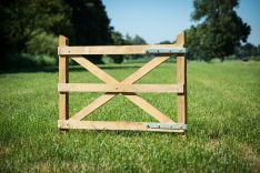 Eiken raamwerk eiken frame kastanjehouten poortje 90x100cm
