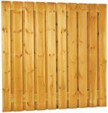 Schutting tuinscherm 19 planks 180x180cm RVS