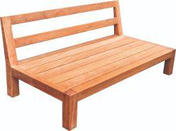 Lounge Sitzbank hartholz 68x136x74,5cm
