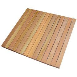 Losetas de madera dura Bangkirai 100cm lisa