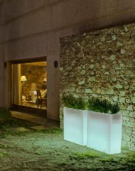 Planter and garden lighting design 80x80x32cm