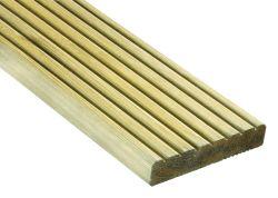Tarima exterior madera pino tratado autoclave 240cm (22x145mm)