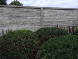 Concrete fence Mountain 200x231cm double sided