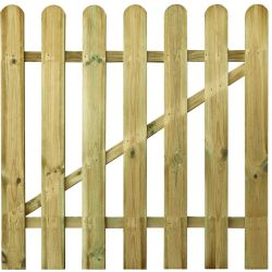 Picket fence gate double