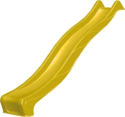 Glijbaan houten speeltoestellen geel 1,25m platvorm