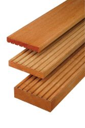 Decking board hardwood Bangkirai 335cm (28x145mm)