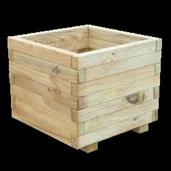 Bloembak plantenbak hout vierkant grenen 50x35x50cm