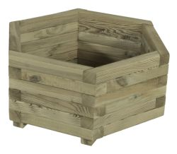 Hexagonal wooden planters 50x45cm