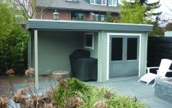 Garden shed Gatwick flat roof 500x250cm