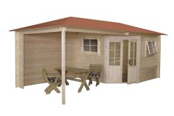 Garden shed Wembley hipped roof 500x250cm