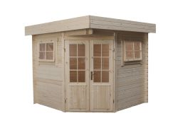 Garden shed flat roof Modern 5 sided 250x250cm / 28mm
