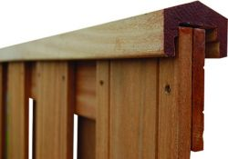 Dessus de clôture en bois tropical 180cm