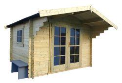 Abri de jardin en bois York 300x300cm