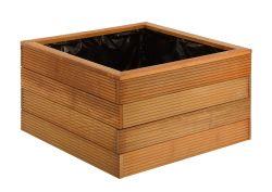 Jardiniere bois dur carré 90x90x65cm