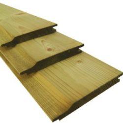 Planche bois autoclave rainure et languette 300cm (19x145mm)