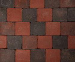 Koppelstones trommelstenen sierbestrating roodzwart, 21x14x6cm, per m2