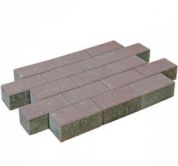 Brick pavement red.