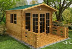 Houten tuinhuis blokhut Sheffield 300x300cm